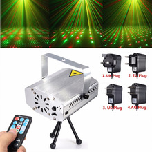 Mini Green Red LED Stage Light Auto Voice Xmas Christmas Party Disco DJ KTV Bar Club Effect Lamp Laser Projector with Remote