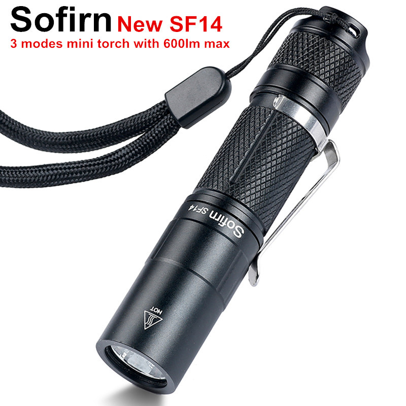 Sofirn New SF14 Mini Portable LED Flashlight AA Cree XP-G2 EDC Pocket Light Torch Portable Keychain Light Penlight Lanterna Lamp колпачки на нипель черные 4шт