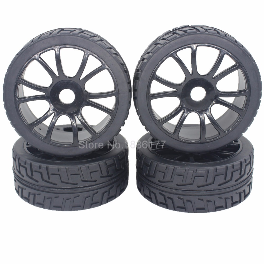 4pcs 1 8 buggy tires wheel rims 17mm hub fit off road rc. Black Bedroom Furniture Sets. Home Design Ideas