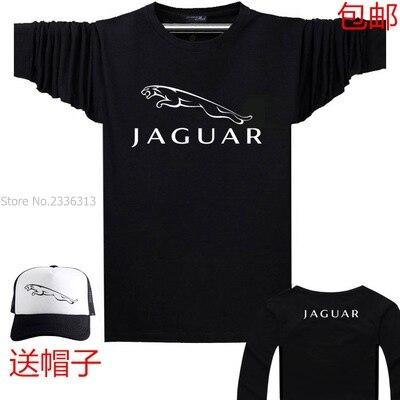 The new car logo autumn spring Jaguar T shirt long sleeved S T shirt