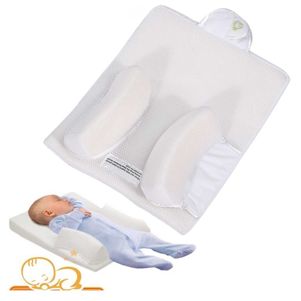 Baby Anti Roll Pillow Infant Sleep Prevent Flat Head