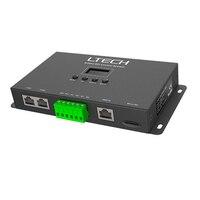 LTECH Artnet to SPI led Pixel controller DC5 24V SPI(TTL)digital output Driving 680 pixels 4 universe Ethernet to SPI Converter