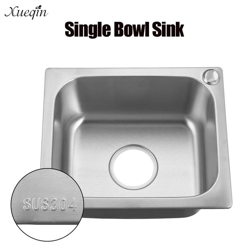 Xueqin 304Stainless Steel Small Bar Single Bowl Inset Kitchen Sink ...