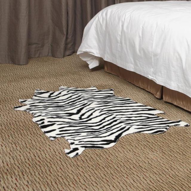 zebra area rug. Rugs And Carpets Alfombras Free Shipping Animal Print Area Rug 75x120cm Zebra Fur Blanket Bedroom Floor A