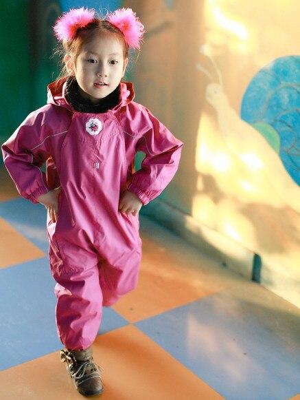 Беспошлинный экспорт доставка весна осень девушки плащ МИНИ NITDRY открытый водонепроницаемый топ брюки Splashsuit ветрозащитный розовый rainsuit