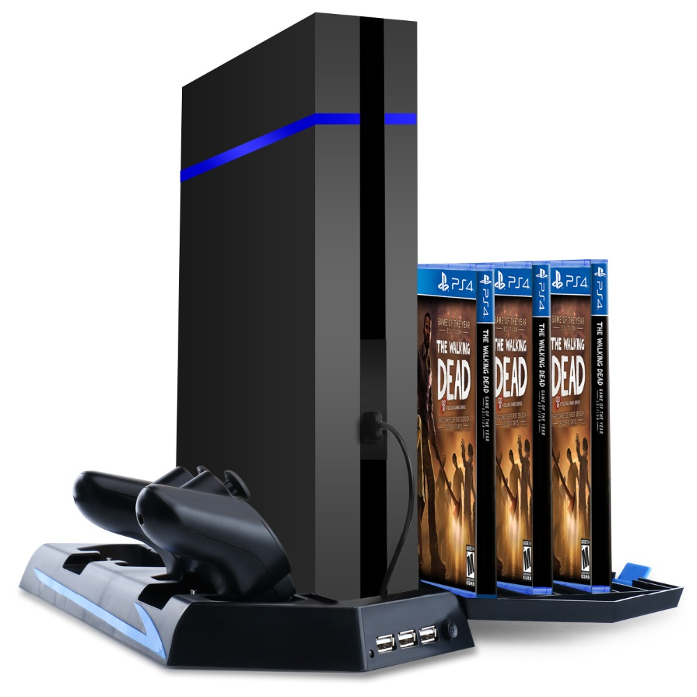 sony official games tower and charging station for ps4. vertical stand\u0026cooling fan for sony ps4 game holder dual charging station with usb hub discstoragfor ps4 dualshock 4 controllers on aliexpress.com | alibaba official games tower and e