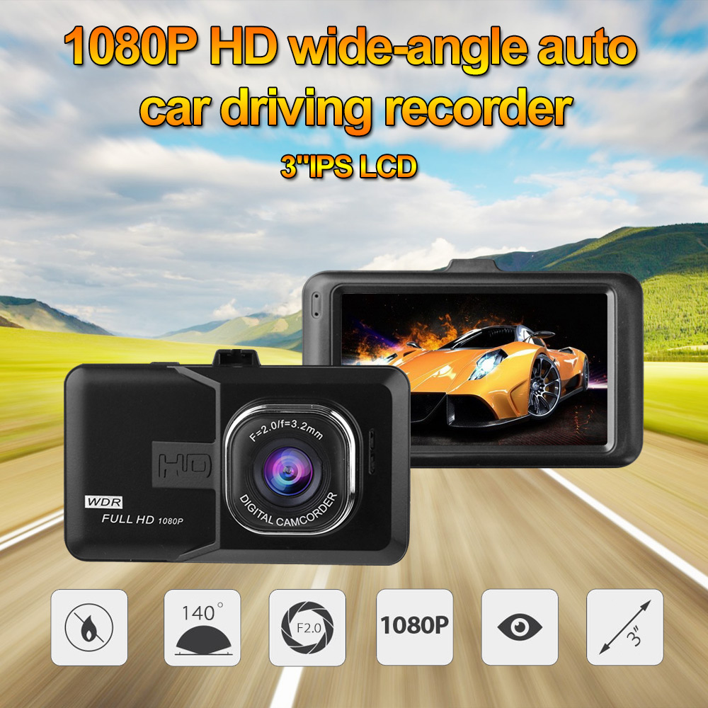 New Mini Car DVR CAR CAMERA FHD 1080P at 30 fps built-in 6 layer lenses and 3.0 inch HD screen USB car charger Android AKL158