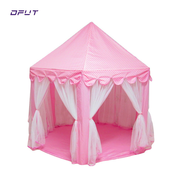 New Play Tent Portable Foldable Princess Folding Tent Children Castle Play House Kids Gifts Outdoor Toy Tents For Kid