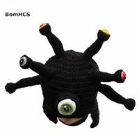 BomHCS Funny Prezent Urodzinowy Octopus Handmade Crochet Beanie Kapelusz Nauszników Czapka Boże Narodzenie Halloween dla Zabawy