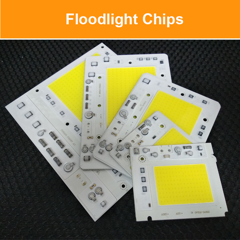 10pcs lot LED COB CHIP 50W 100W 150W 200W AC110V 220V Input with Smart IC Fit