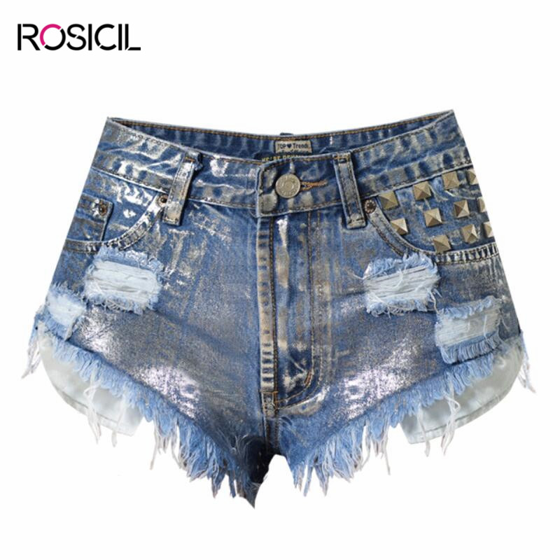 Summer Fashion Design Femme Shorts Plus Size High Waist Denim Shorts For Women Rivet Hole Casual Blue Cotton Jeans Shorts summer women fashion high waist jeans shorts worn hole straight denim shorts solid blue curling edge poket casual shorts