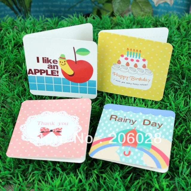 168 sets hot new mini cartoon cardsgreeting card with rope 168 sets hot new mini cartoon cardsgreeting card with rope creative cards wholesale m4hsunfo