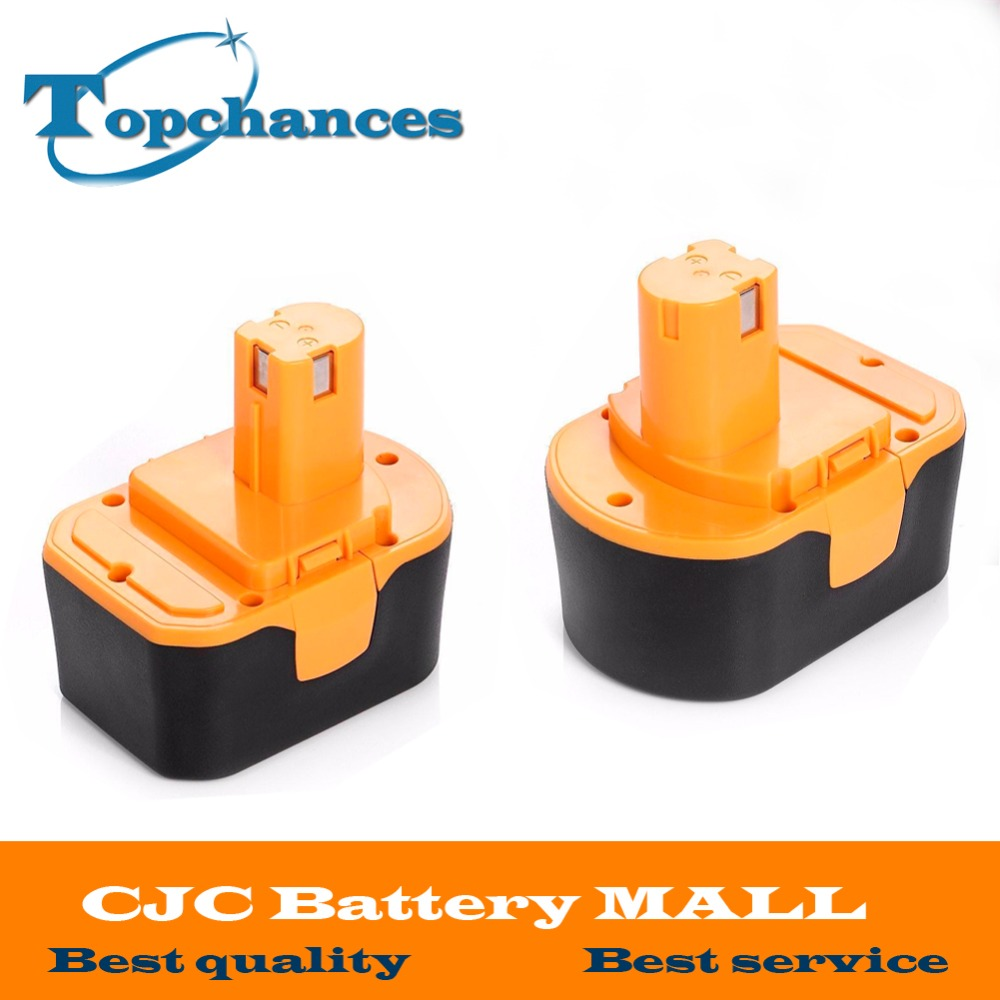 2PCS High Quality <font><b>14.4V</b></font> 2000mAh NI-CD Power Tool Battery For RYOBI 130281002 RY62 RY6200 RY6201 RY6202 STPP-1441 14.4 Volt image
