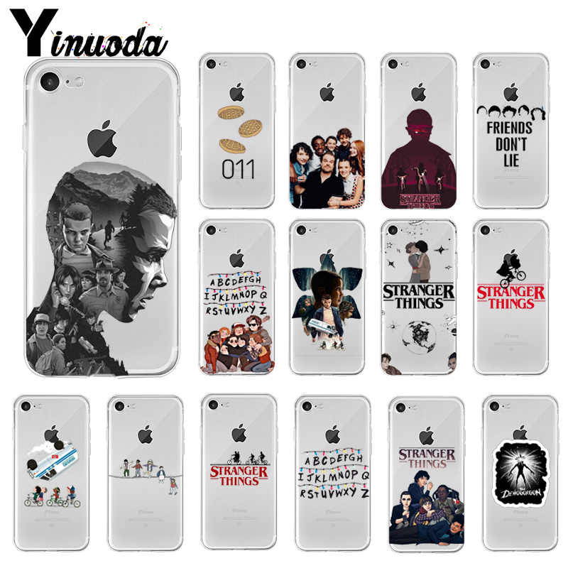 Yinuoda Stranger Things Coque Shell Phone Case for iPhone 8 7 6 6S Plus 5 5S SE XR X XS MAX Coque Shell