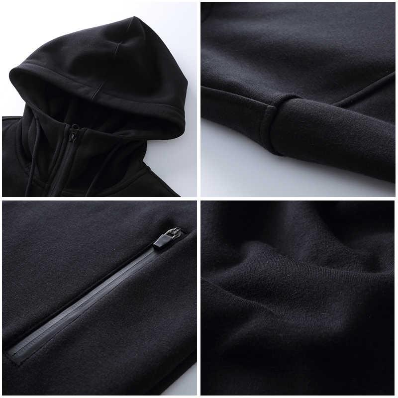 Пионерский лагерь весеняя длинная флисовая куртка пальто брендовая мужская одежда одноцветная черная мужская куртка с капюшоном  высокое качество 100% хлопковая верхняя одежда AJK702352