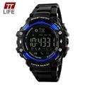 TTLIFE App Recuerdan Podómetro Bluetooth Reloj Hombre 50 M Resistente Al Agua Cámara Remota Luz Fecha Display Digital Relojes para Hombres