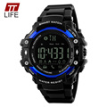 TTLIFE Pedometer Bluetooth Watch Men 50M Water Resistant App Remind Remote Camera Backlight Date Digital Display Watches for Men