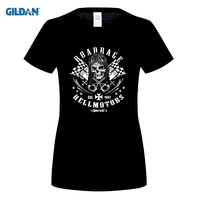DILDAN Fashion Slim Fit Top Printed T Shirt Biker Road Rage Rider Chopper Old School Custom
