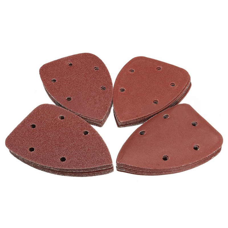 40pcs Triangle Sanding Sheets Polishing Pads Sandpaper with 5 Holes 140mmx90mm For Grinding Abrasive Tools40pcs Triangle Sanding Sheets Polishing Pads Sandpaper with 5 Holes 140mmx90mm For Grinding Abrasive Tools