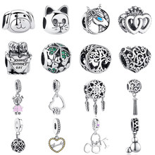 b9c7966288f0 2019 auténtico 925 cuentas de cristal de plata encantos Ajuste Original  Pandora encanto pulsera collar DIY venta al por mayor fa.