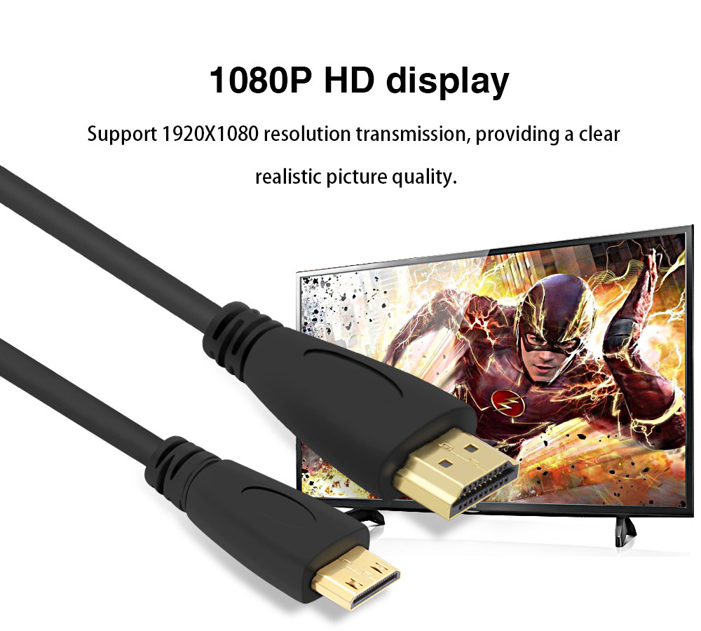 1m15m2m3m High Speed Gold Plated Hdmi To Mini Cable C 2meter Type 14 Version 1080p 3d For Tablets Dvd