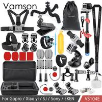 Vamson for Go pro Accessories Kit Monopod For Gopro Hero 7 6 5 4 3 For Xiaomi yi for SJCAM EKEN H9R Mijia VS104