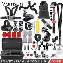 Vamson kit de acessórios para go pro monopé para gopro hero 7 6 5 4 3 para xiaomi yi para sjcam eken h9r mijia vs104