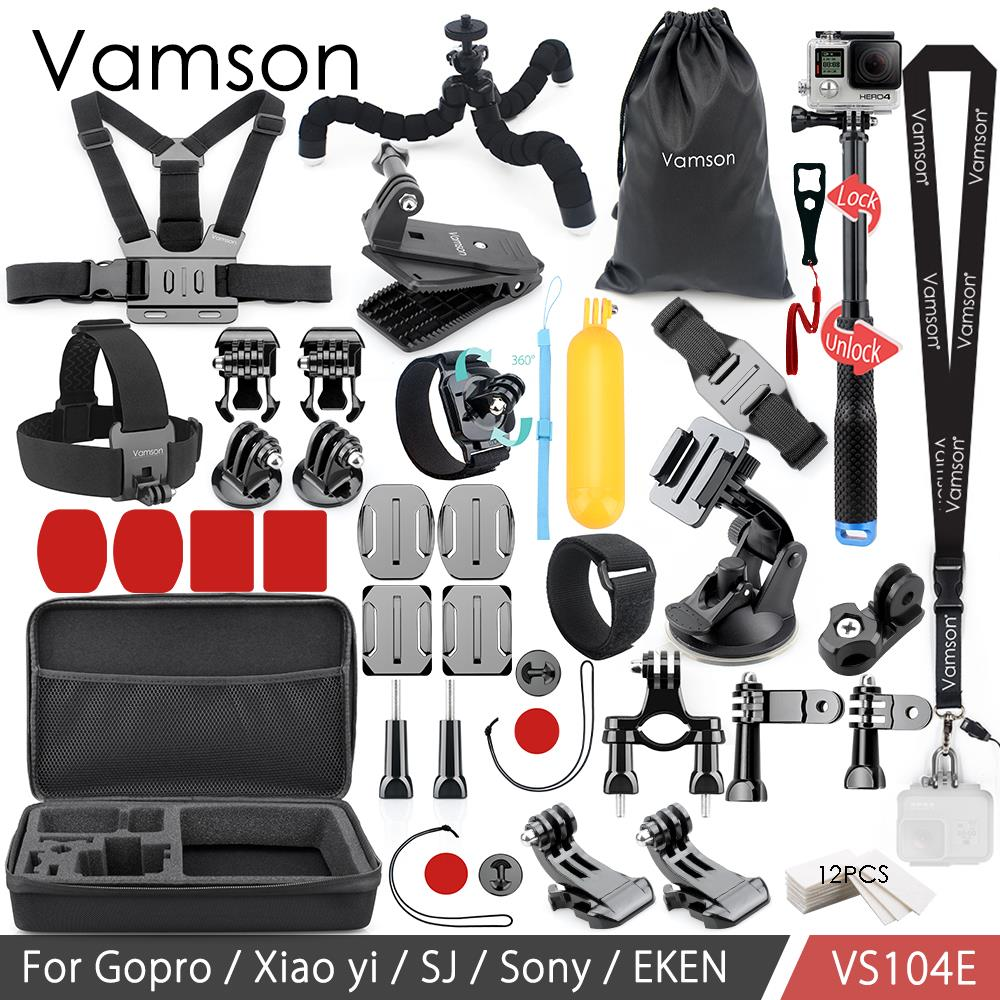 Vamson per Go pro Accessori Kit 3 vie Monopiede Per Gopro Hero6 5 4 3 Per Xiaomi yi per SJCAM EKEN H9R Norma Mijia VS104