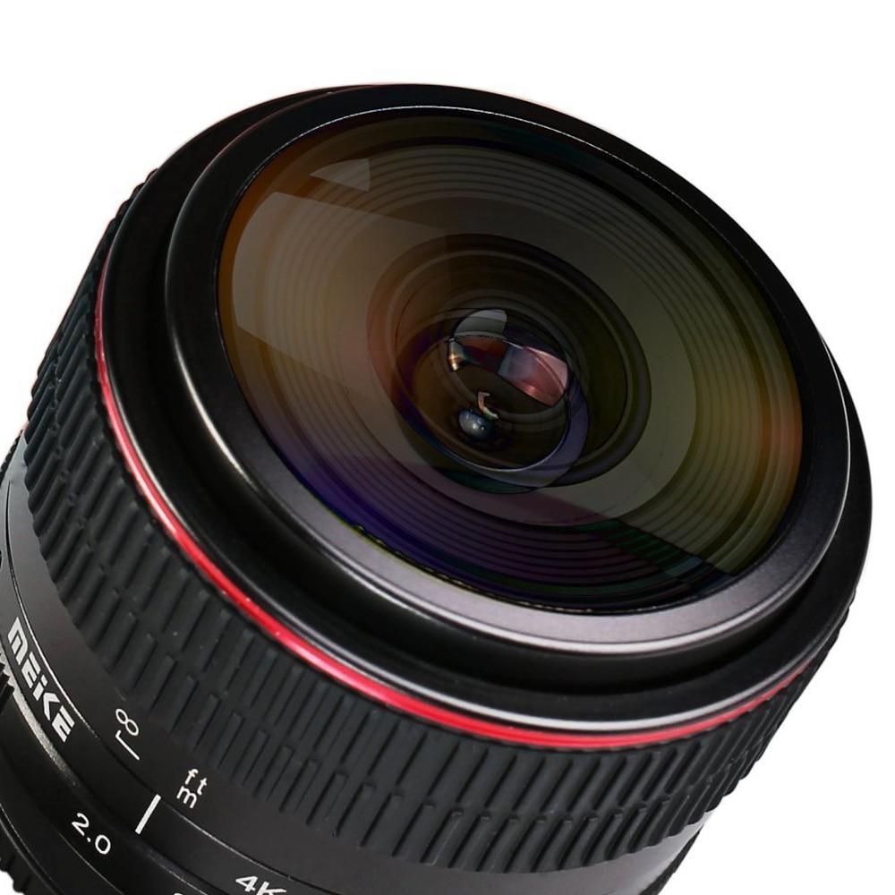 MEIKE MK-6.5mm F2.0 Fisheye lencse Canon EF-M-hez Lens fényképezőgép + Mcoplus tisztító kendő