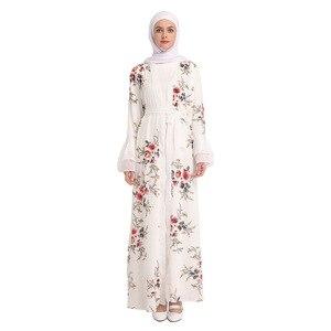 Image 3 - Chiffon abaya turquia hijab muçulmano vestido kaftan dubai abayas para mulher qatar ramadan caftan marocain jilbab robe roupas islâmicas