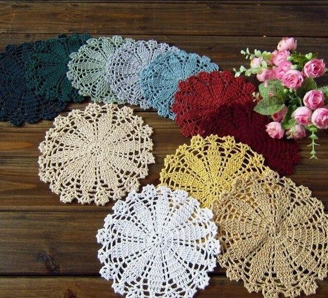 Crochet tapete patrones manteles tapetes de tela 14 CM vintage ...