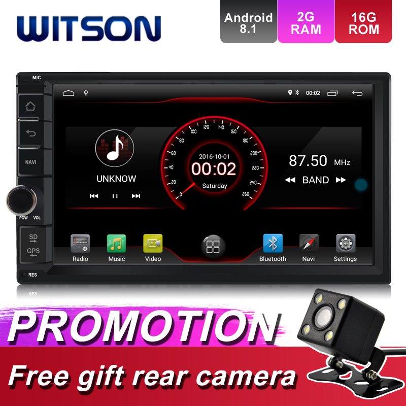WITSON Android 8 1 Universal Double Din DVD Player 1080P HD Video Built In WiFi Module
