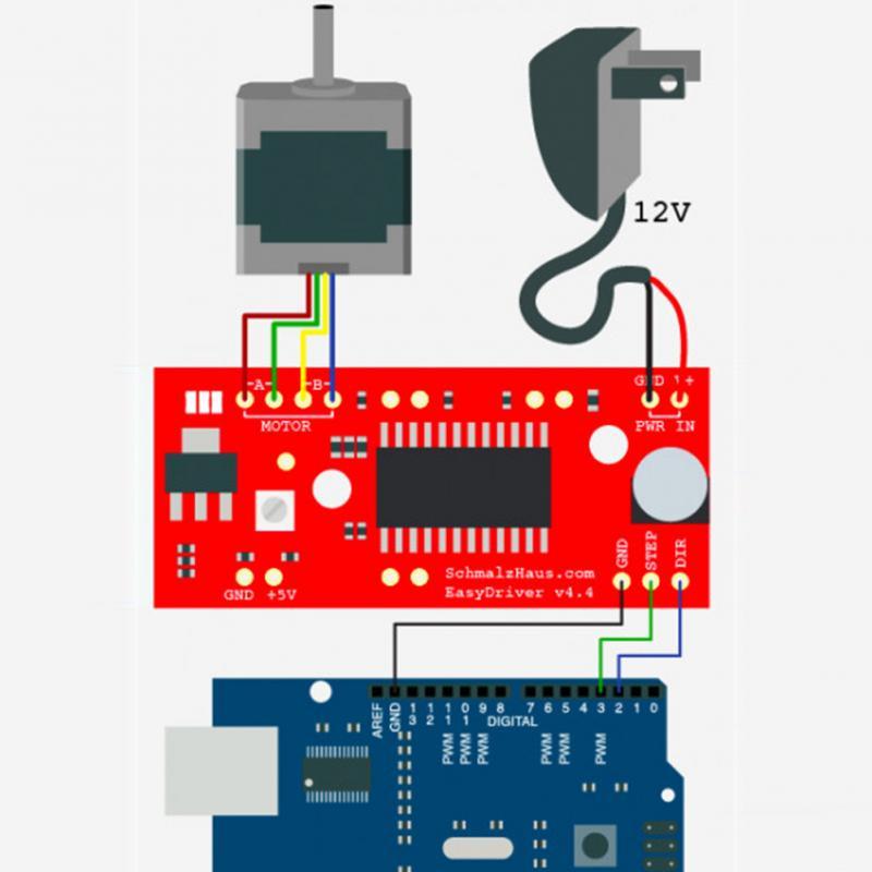 1pc easy driver shield stepping stepper motor driver v44 for Micro stepper motor datasheet