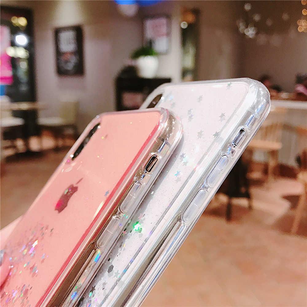 Heyytle Блестящий блестящий чехол с блестками для iphone 8, 7 Plus, 6, 6 s, прозрачный чехол с эпоксидной звездой для iphone X, XR, XS, MAX, 10, мягкий чехол из ТПУ