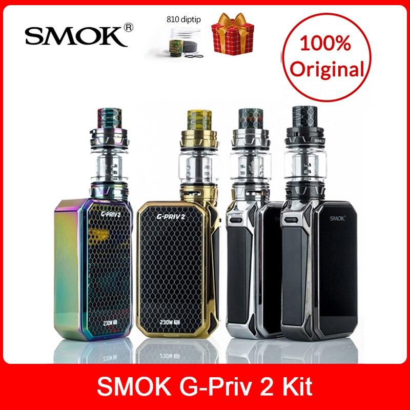 SMOK origine G-priv 2 Kit Luxe Édition 230 W avec TFV12 Prince Réservoir 8 ml + Q4/ t10 Bobines Cigarette Électronique smok g priv 2 Vaporisateur kit