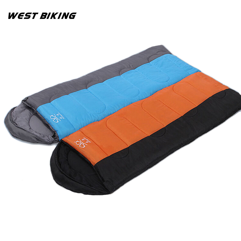 ФОТО WEST BIKING Sleeping Bag Hollow cotton 1300G 5-15 Celsius Outdoor Camping  Can Be Spliced Envelope Camping Adult Sleeping Bag