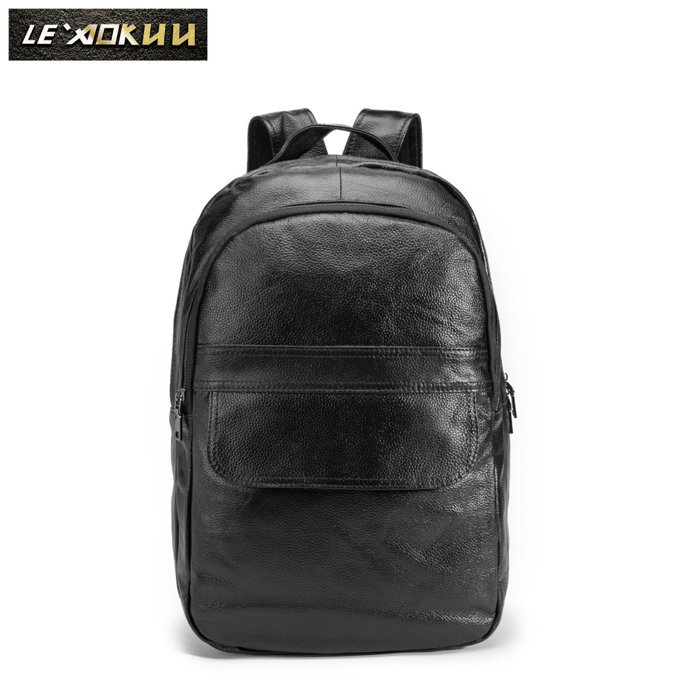 Design Male Original Leather Casual Fashion Large Capacity Travel School College 17 Laptop Student Bag Backpack Daypack BB337Design Male Original Leather Casual Fashion Large Capacity Travel School College 17 Laptop Student Bag Backpack Daypack BB337
