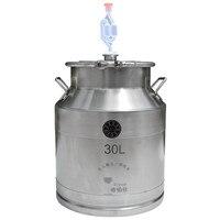 Запчасти для Самогонный аппарат: 30/50 литров 304 Нержавеющаясталь ферментера хранения Еда молока домашнего вина пивоварения баррель