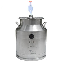 Parts for Moonshine Still: 30/50Litre 304 Stainless Steel Fermenter Storage Food Milk Tank Home Wine Beer Brewing Barrel