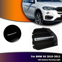 Auto Car LED DRL Daytime Running Light Bumper Fog Lamp Covers White Daylights For BMW X6