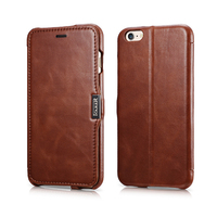 Original ICARER Ultra Thin Vintage Flip Cover For iPhone6 Plus Premium Genuine Leather Phone Case For iPhone 6 6s Plus 5.5inch
