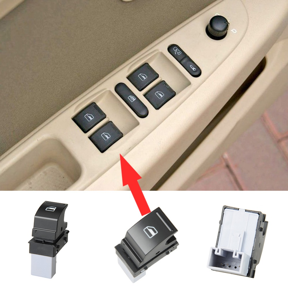 Electric Power Auto Window Switch Car Front Driver Passenger Side Door Glass Dip Lift Switch For VW For Golf Caddy 7L6 959 855B