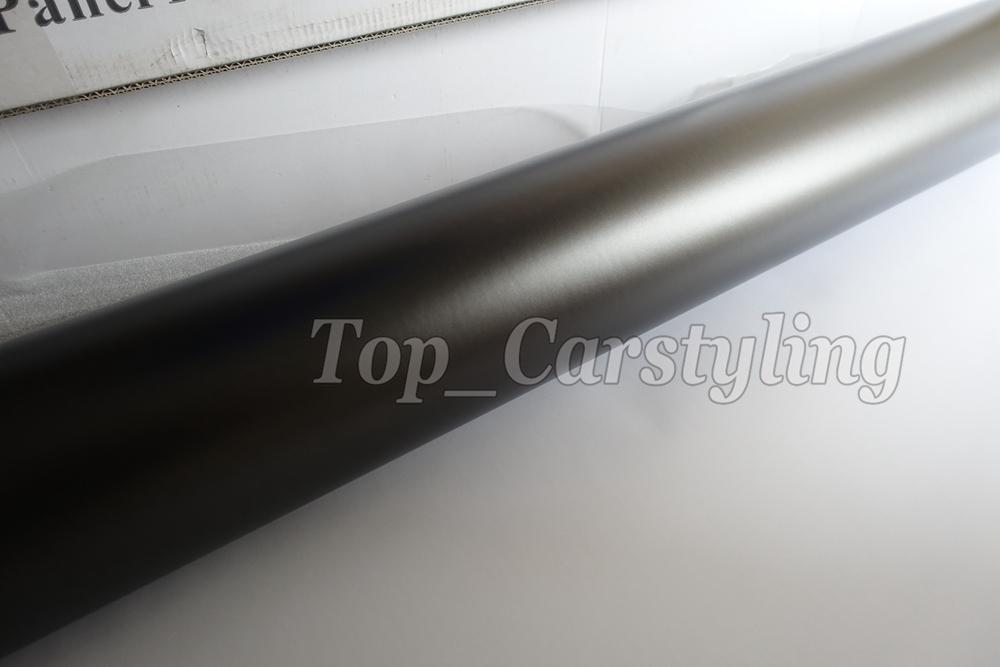 Gray apa 3M Anthracite satin chrome gunmetal dark Grey metallic car wrapping Film (4)