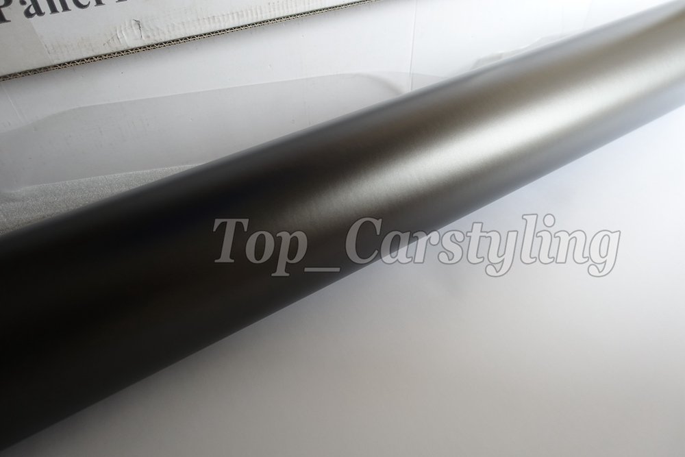 Gray apa 3M Anthracite satin chrome gunmetal dark Grey metallic car wrapping Film (4)