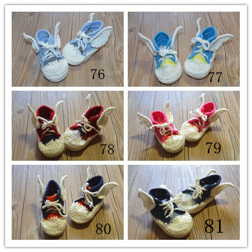 QYFLYXUE- Pure hand woven wool shoes, beautiful wing shoes, newborns shoes, toddler shoes, multicolor customization, and exempti