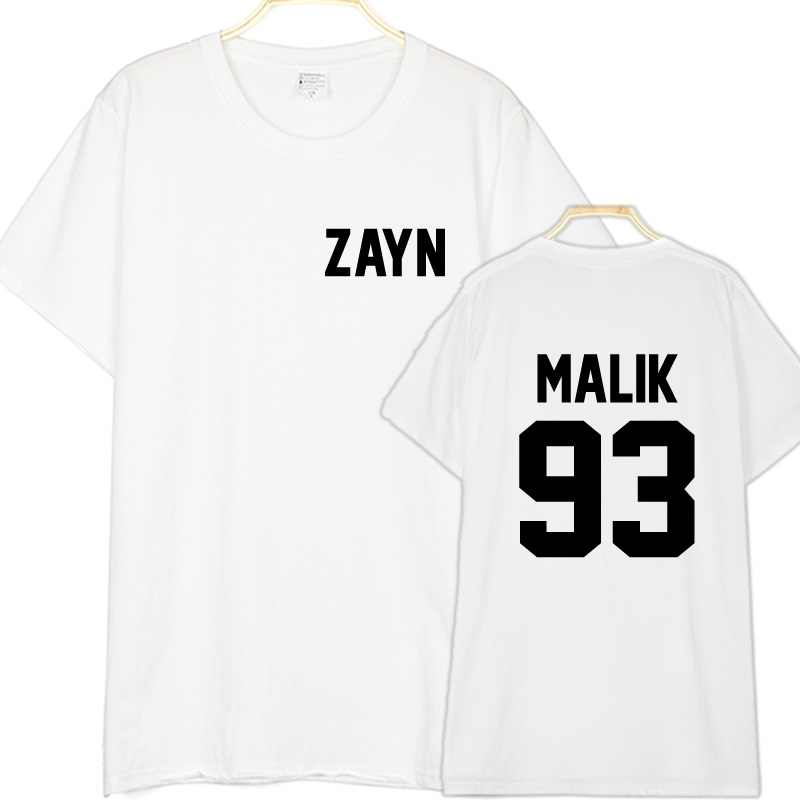 d9a834fb ... Zayn Malik T Shirt Zayn Malik 93 Printed T-Shirt New 2018 Fashion  Summer Men ...