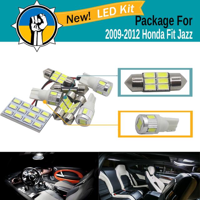 5 Peças de Carro 5630 SMD LED Kit Pacote Interior Mapa Dome Trunk luz lâmpada led branco para honda fit jazz 2009 2010 2011 2012