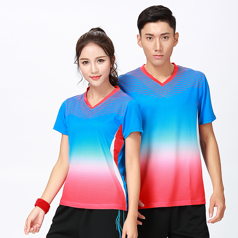 New Sports clothes Badminton wear shirt Women/Mens ,sports Tennis shirts, Table Tennis tshirt , Quick dry sportswear shirt 8803