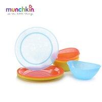 Munchkin baby Feeding Set 5pk baby kids Multi Plates and 5pk Multi bowls Toddlers boy girl children