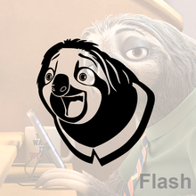 Zootopia Flash laughing Scene vinyl wall sticker sloth home decor decal car style diy decals 3D stickers for laptop